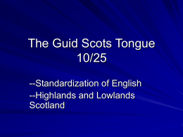 The Guid Scots Tongue 10/25 - Northern Arizona University
