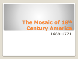 A Mosaic of 18th Century America - Index