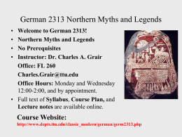 German 3313 Northern Myths and Legends