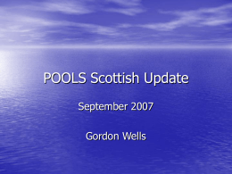 POOLS Scottish Update