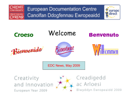 The European Documentation Centre in the Digital Age