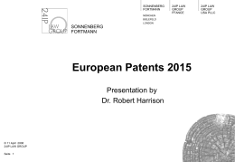 European Cross-Border Patents