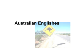 Australian Englishes - uni