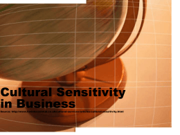 Cultural Sensitivity in Business