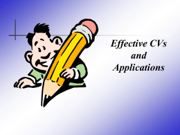 Effective Applications - UL University of Limerick