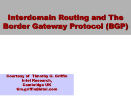An Introduction to Interdomain Routing and the Border