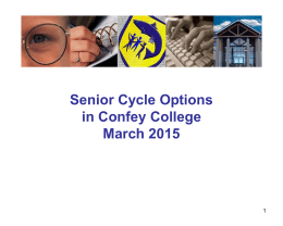 Senior Cycle Options in Confey College