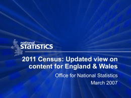 Looking for a way - Office for National Statistics