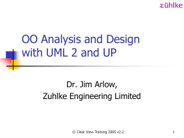 OO Analysis and Design with UML and USDP