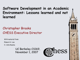 Software Development in an Academic Environment: …
