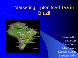 Marketing Lipton Iced Tea in Brazil