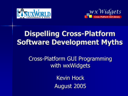 Dispelling Cross-Platform Development Myths