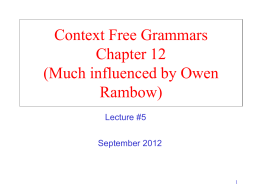cisc882 Context Free - University of Delaware