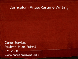 Resume Writing - Graduate and Professional Student Council