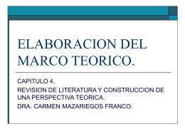 ELABORACION DEL MARCO TEORICO.