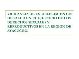 VIGILANCIA DE ESTABLECIMIENTOS DE SALUD EN EL …