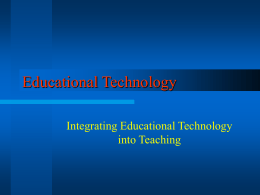 Educational Technology - University of North Texas