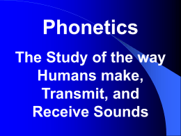 Phonetic sounds - Hong Kong Baptist University