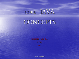 CORE JAVA CONCEPTS
