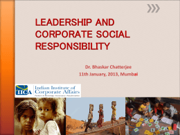 CORPORATE SOCIAL RESPONSIBILITY THE NEW GAME …