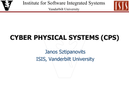 Cyber Physical Systems - Institute for Software Integrated