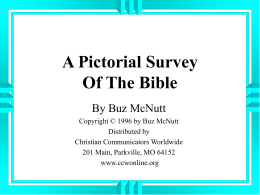 A Pictorial Survey Of The Bible