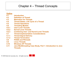 Chapter 4: Thread Concepts - New Mexico State University