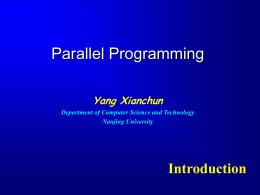 Parallel Computing - Nanjing University