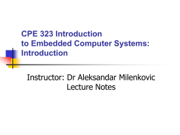 Microcomputers notes - UAH - Engineering