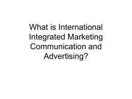 What is International Integrated Marketing …