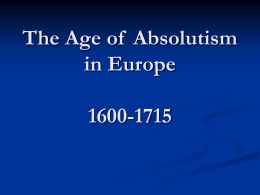 The Age of Absolutism, 1600-1715 - Pages