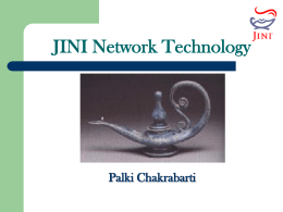 Jini Network Technology - Department of Computer …
