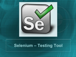 Selenium Tutorial - Bci news Blog | Just another …