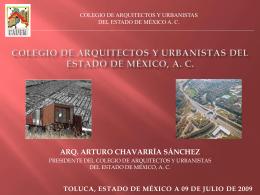 COLEGIO DE ARQUITECTOS Y URBANISTAS DEL ESTADO …