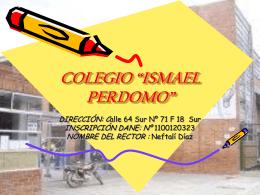 "COLEGIO ""ISMAEL PERDOMO"" - coleperdomowiki"