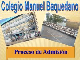 COLEGIO MANUEL BAQUEDANO