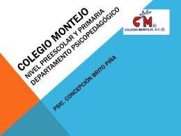 Colegio Montejo Nivel Preescolar y Primaria. …