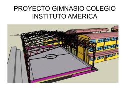 PROYECTO GIMNASIO COLEGIO INSTITUTO AMERICA