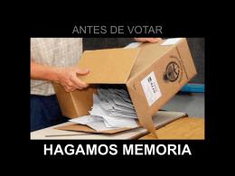 ANTES DE VOTAR