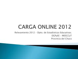 CARGA ONLINE 2012 - Relevamiento Anual