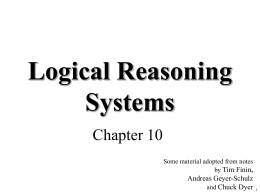 Logic based systems - Computer Science and Electrical