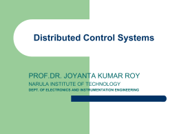 Distributed Control Systems