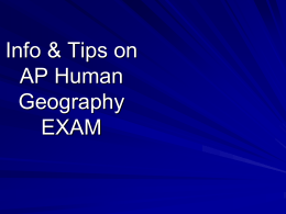 Tips on AP EXAM - Flagstaff High School