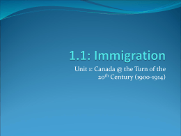 Canadian Immigration 1896-1905