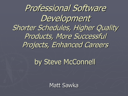 Professional Software Development Shorter Schedules
