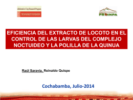 Quinoa and Nutrition in the Southern Bolivian Altiplano