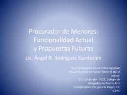 Procurador de Menores: Funcionalidad Actual y Propuestas