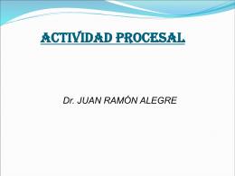 ACTIVIDAD PROCESAL