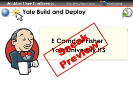 Yale Build and Deploy