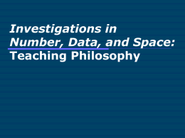 Investigations in Number, Data, and Space: …